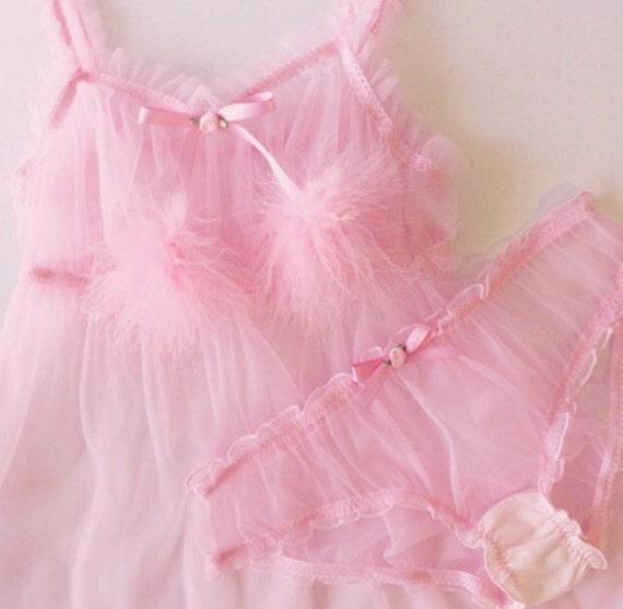 c9d3037c2b618 Pink Ruffle Babydoll   Etsy