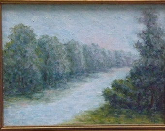 """12x9"""" 'Lake View'  Impressionistic oil painting"""