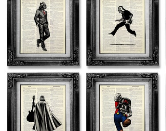 Art Star Wars, STAR WARS Poster, impression de Star Wars, Art mural musique, Star Wars Wall Art, ensemble imprimé Star Wars, musique drôle amusant affiche musique cadeau