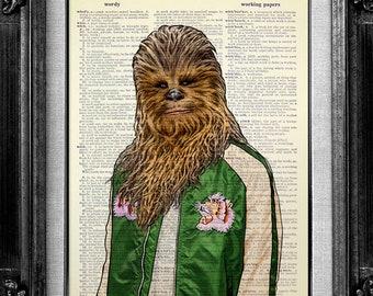 Chewbacca Poster, Chewbacca Print, Chewbacca Art, Chewbacca Wall Art Wall Decor, Wookie Print, Wookie Poster, Star Wars Dictionary Art Print
