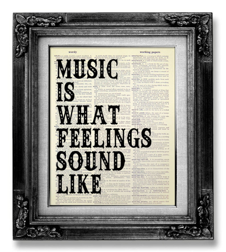 Music Wall Quote Music Wall Saying Music Wall Art Rock Etsy