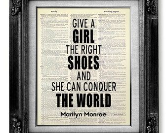 Unique WEDDING Gift Bride from Mother, College GRADUATION Gift Her, ANNIVERSARY Gift Girlfriend, Marilyn Monroe Art - Girl Conquer the World