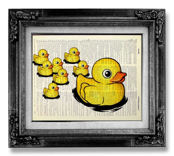 KIDS BATHROOM Wall Art Kids Bathroom Wall Decor Rubber Duck