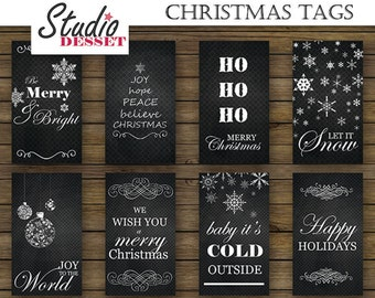 christmas tags printable holiday labels packaging gifts in etsy