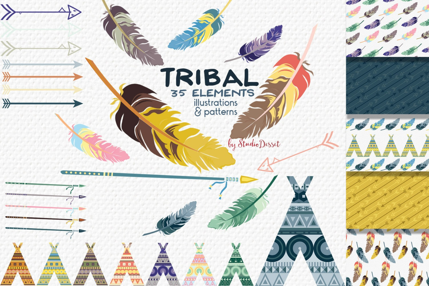 Tribal Clipart Arrows Clip Art Tribal Papers Teepee Clipart