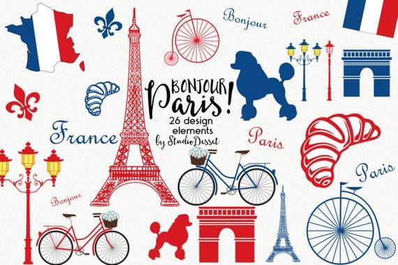 france cliparts paris clip art eiffel tower clipart poodle etsy rh etsy com Car Clip Art Vintage Bike Clip Art