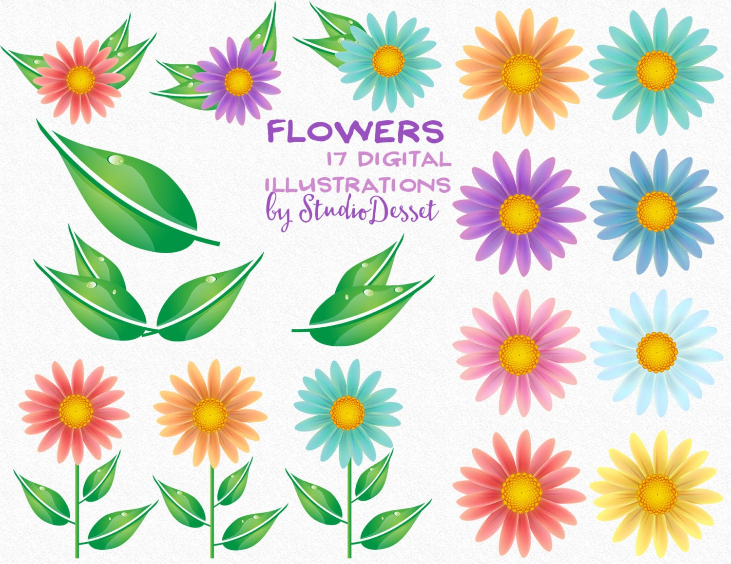 Flower cliparts daisy flower floral clip art daisy clipart this is a digital file izmirmasajfo