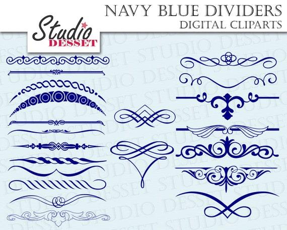 blue dividers digital borders diy wedding invitations etsy