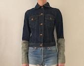 90 39 s Jean Paul Gaultier JPG Blue Indigo Denim Extra Long Cuffs Jeans Jacket