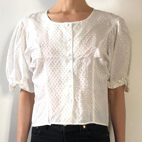 Vintage Crisp White Cotton Peasant Dress Size Sm 1980/'s Vintage English White Cotton Embroidered Farm Dress Women/'s Size 68 By Whip-O-Will