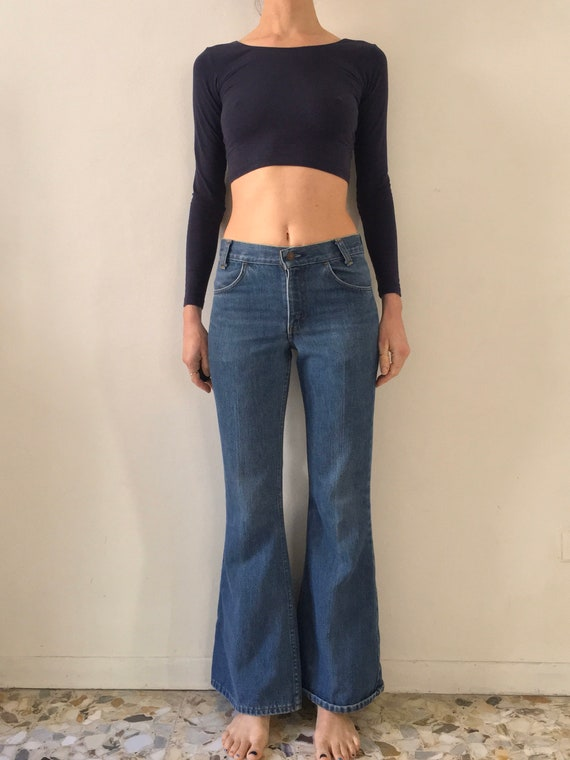 70's Levis Orange Label Bell Bottoms Perfectly Fad