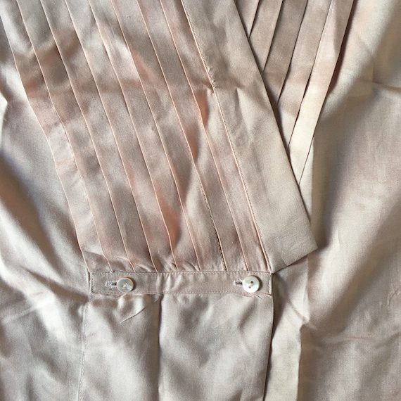 70s Kenzo Pink Silk Pleated Cross Over Japanese M… - image 7