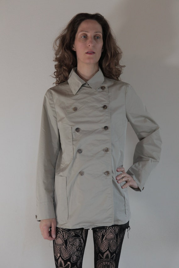 90's Jil Sander short double breasted trench coat