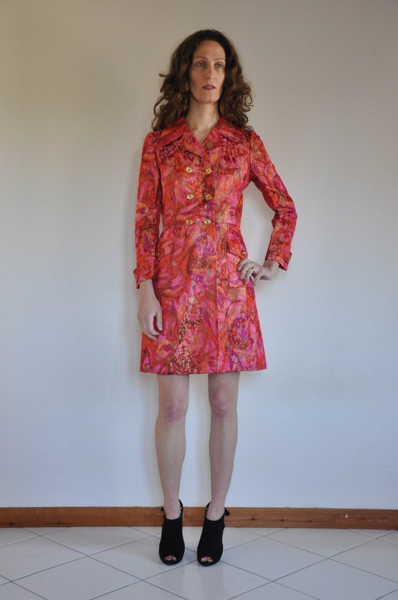 60's Psychedelic pink and gold tapestry jacket, Se