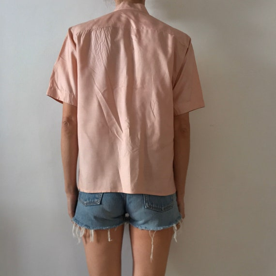 70s Kenzo Pink Silk Pleated Cross Over Japanese M… - image 3