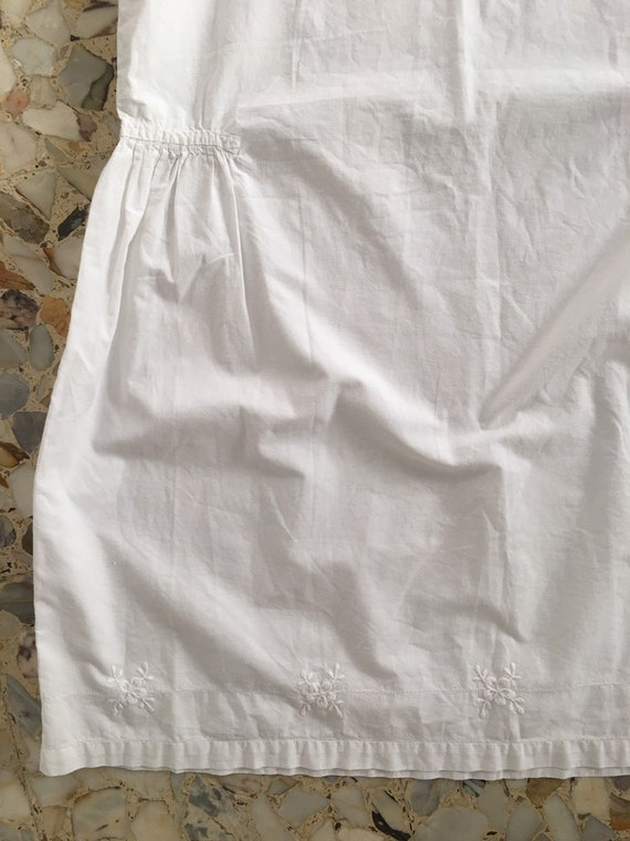 30's White Cotton Boho Slip Dress With Delicate H… - image 7
