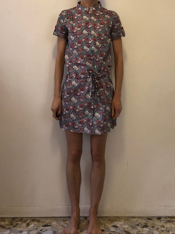 90's Cacharel Liberty Summer Shirt Shift Dress Sum