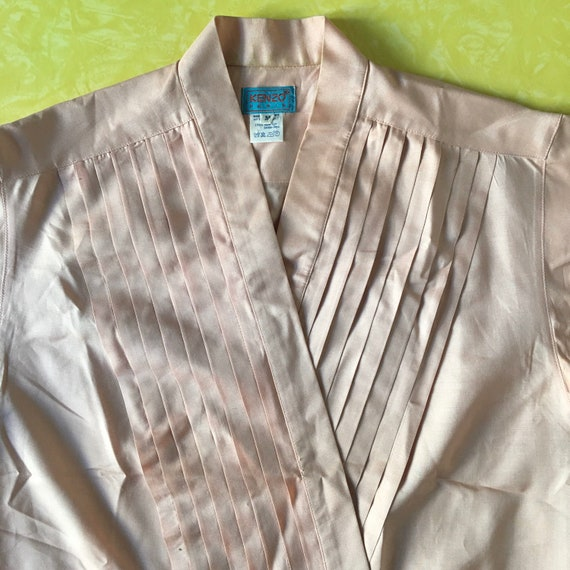 70s Kenzo Pink Silk Pleated Cross Over Japanese M… - image 5
