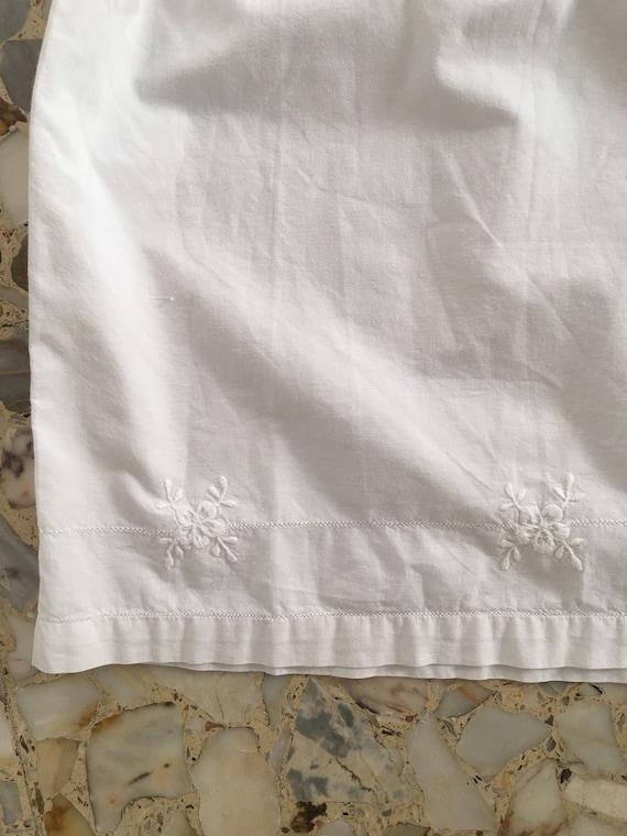 30's White Cotton Boho Slip Dress With Delicate H… - image 8