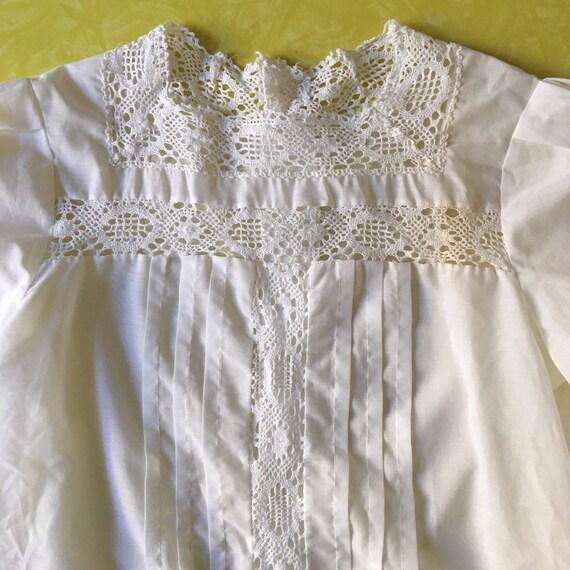 70s Lace Prairie Blouse Boho Romantic Sheer Cotto… - image 2