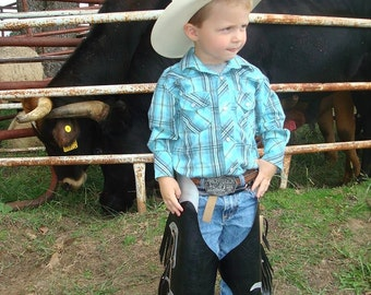 Made to order mutton bustin rodeo  chaps.