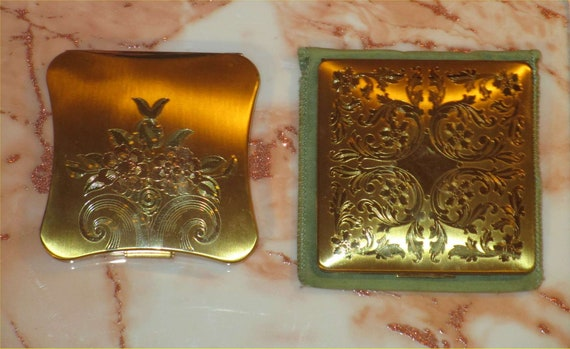 GLOSSY Gold 2 for 1 ELEGANT Elgin American Vintage