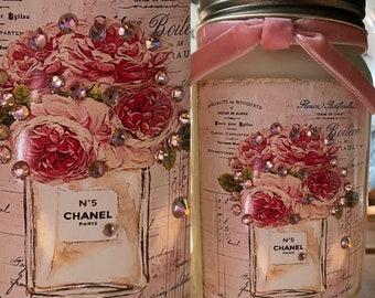 Shabby Chic Jar Etsy