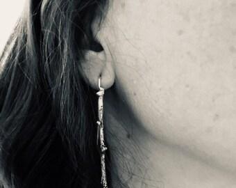 Dangle earrings, Branches Earrings, tree branch centerpiece Earrings, organic holder Earrings Tree branches Earrings , Formal, Elegant