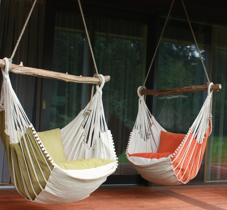 Eco style Hammock chair individually selected crossbar image 0