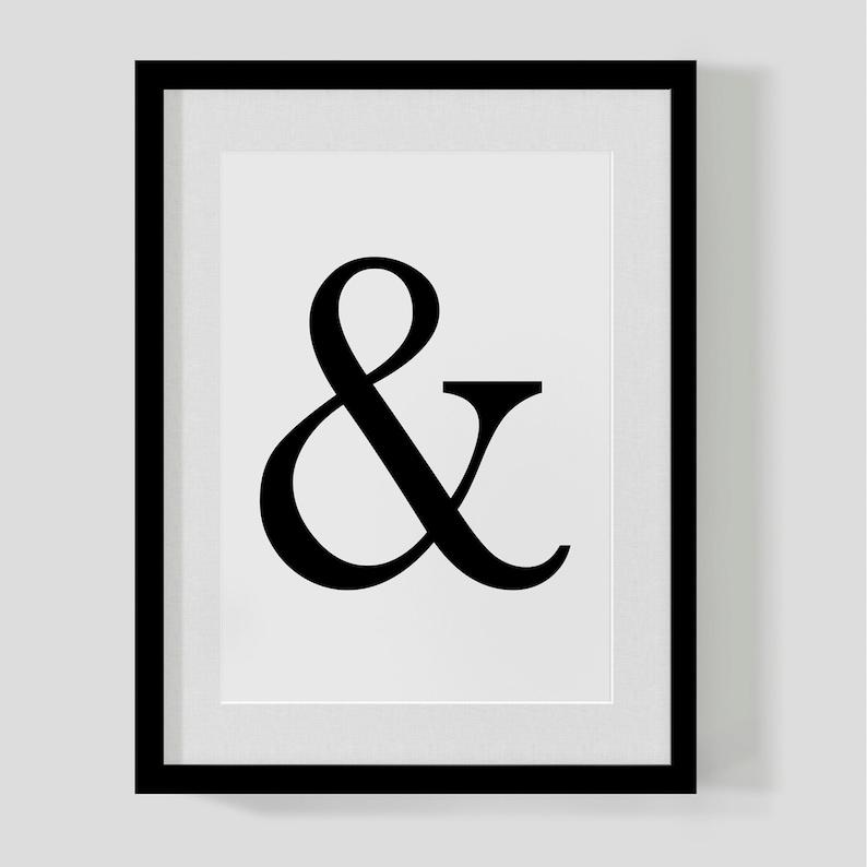 Kaufmännisches und-Zeichen Poster Drucken & | Etsy
