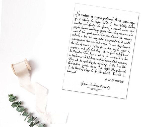Liebe Wins Gerechtigkeit Kennedy Ehe Gleichheit Zitat Frisch Vermählte Oder Jahrestagsgeschenk Gleichen Sex Hochzeitsgeschenk Homosexuell