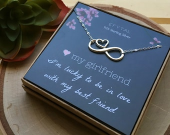 Girlfriend Gifts Birthday Gift Ideas 925 Sterling Silver Infinity With Heart Necklace Anniversary Valentines Day Present 94