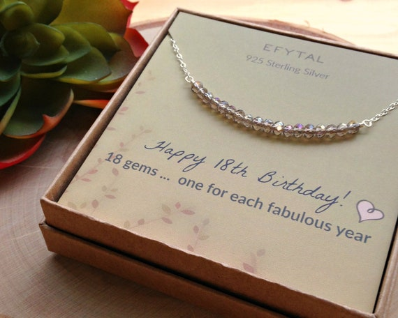 2398b87007d 18th Birthday Gifts for Girls Sterling Silver Necklace 18