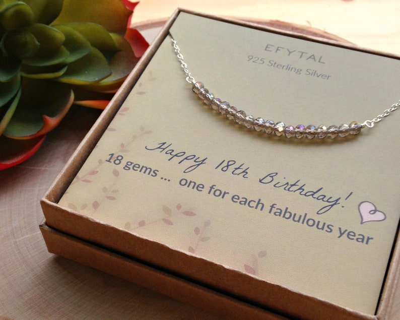 18th Birthday Gifts For Girls Sterling Silver Necklace 18 Etsy