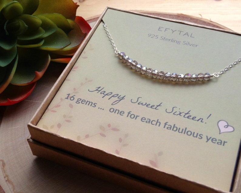 dbe842d6b433 16th Birthday Gifts for Girls Sterling Silver Sweet 16