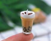 icecream float boba milk tea Miniature food 1 12 Dollhouse decoration collection tea station shop drink store restaurant cafe coffee