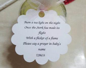 Tea Light Favor Tags Etsy