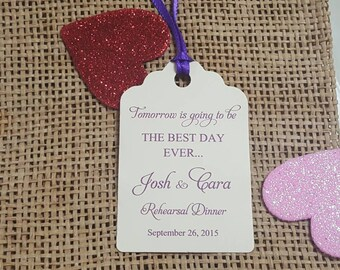 personalized favor tags 2 12 wedding tags thank you tags favor tags gift tags cutlery tags cutlery rehearsal dinner - Christmas Themed Baby Shower