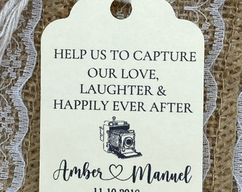 Disposable Camera Favour Gift Tags Photo Tag Wedding Camera Wedding Favour
