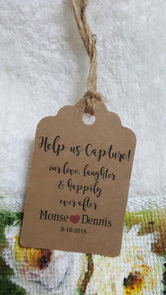 camara Favor Tags 2.5L x1.8w disposable camara tag disposable camara tags, Wedding camara tags wedding tag