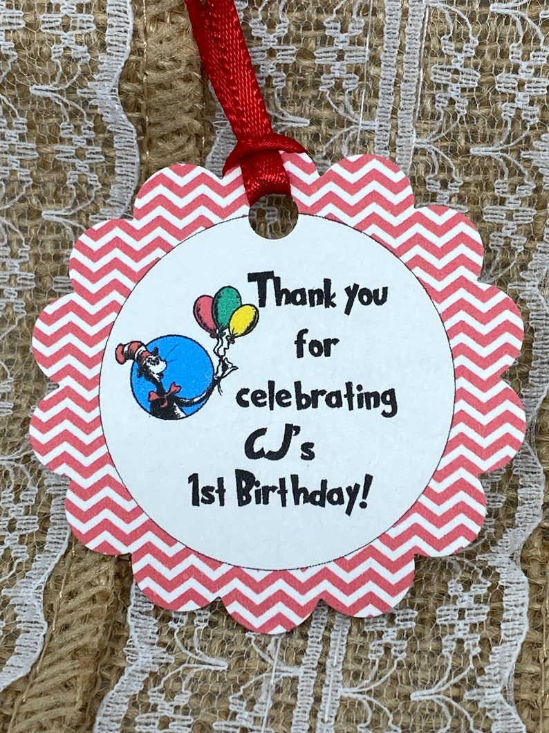 Baby Shower tags Dr Seuss Tags Gift tags cat in the hat baby shower tag Thank You tags 2/'/' birthday tags Favor tags dr seuss