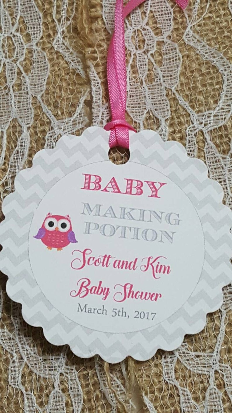 Personalized Favor Tags 2 5 Baby Making Potion Tags Etsy