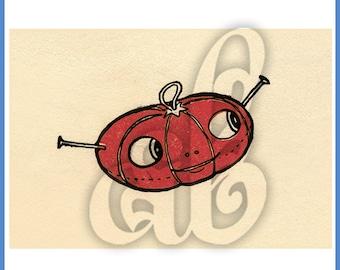 Digital Image of Thimblefriends Tomato Pincushion