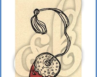 Digital Image of Thimblefriends Strawberry Pincushion