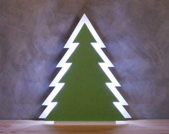 wooden christmas tree with led lights tabletop lamp tree cool white lighting office xmas wood tree decoration white wood led christmas tree - Wooden Led Christmas Decoration