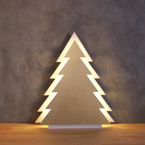 Wooden tabletop Christmas tree with warm led light christmas decoration wood tree with lights battery operated lamp tree white christmas
