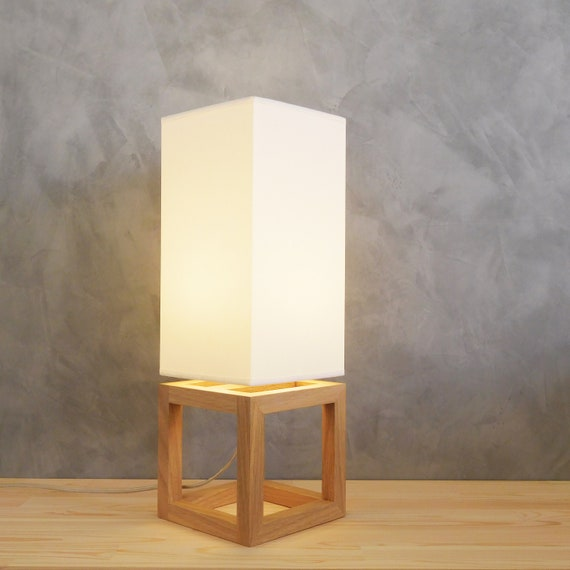 Wooden Table Lamp Shade Modern Bedside Lamps For Living Room With Abat Jour