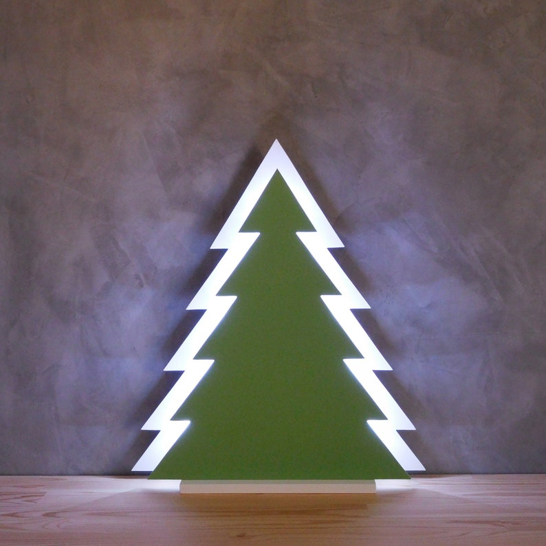 Wooden Christmas Tree With Led Lights Tabletop Lamp Tree Cool White Lighting Office Xmas Wood Tree Decoration White Wood Led Christmas Tree