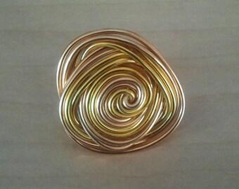 Almond aluminum ring