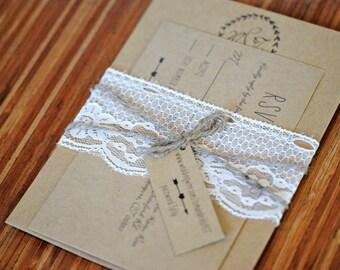 Rustic wedding invitation twine Etsy